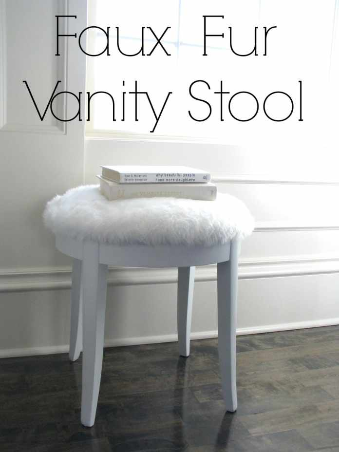 9.Simphome.com Faux Fur Vanity Stool
