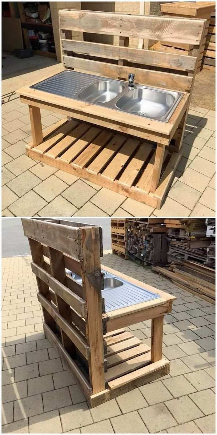 Simphome.com this shipping wood pallet idea will make you introduce out with the with garden sink ideas