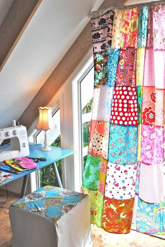 5.Simphome.com Patchwork Curtain