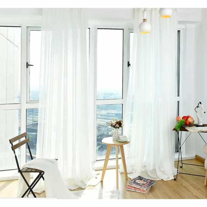 9.Simphome.com Sheer White Curtains