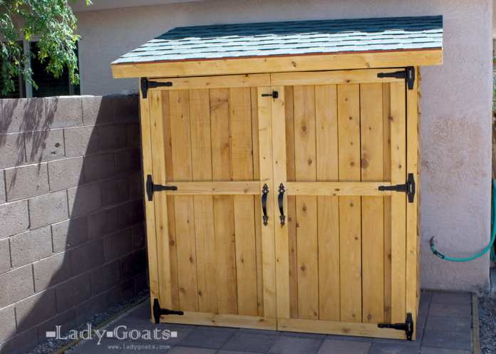 Simphome.com Ana white small cedar fence picket storage shed diy projects pertaining to small garden shed ideas