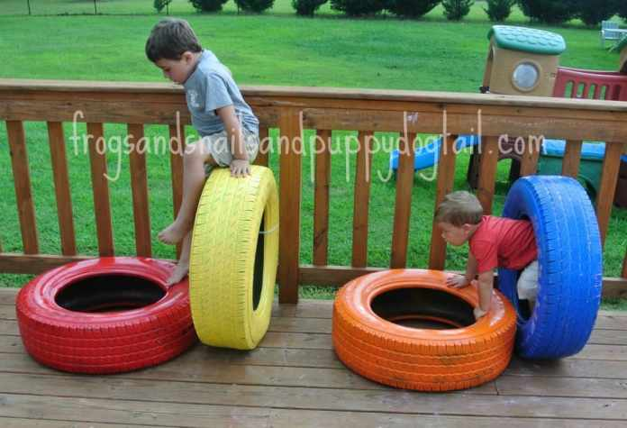 6.Fun Tire Obstacle by Simphome.com