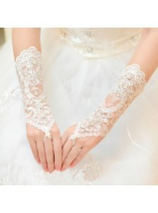 Women s Accessories  Prom Accessories  Wedding Accessories   Simple         New Style Bridal Lace Rhinestone Fingerless Gloves for Wedding Party  Prom