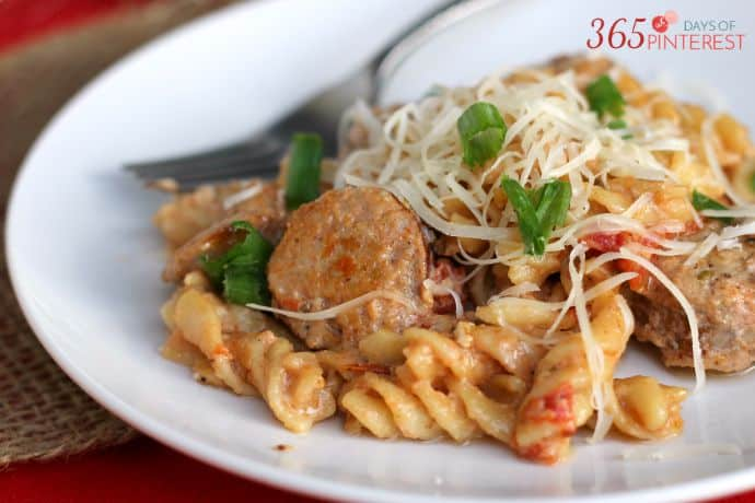 Make this easy one pot pasta and cut down on dishes and prep time during those busy weeknights!