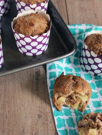 Whole Wheat Apple Crunch Muffins