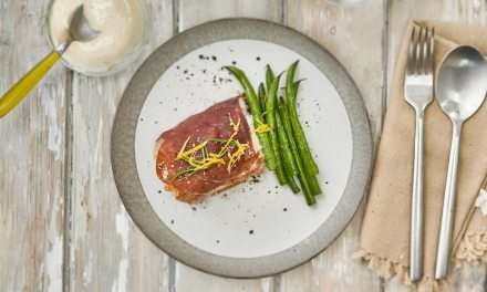 Cod Fillet wrapped in Parma Ham with Lemon Mayo
