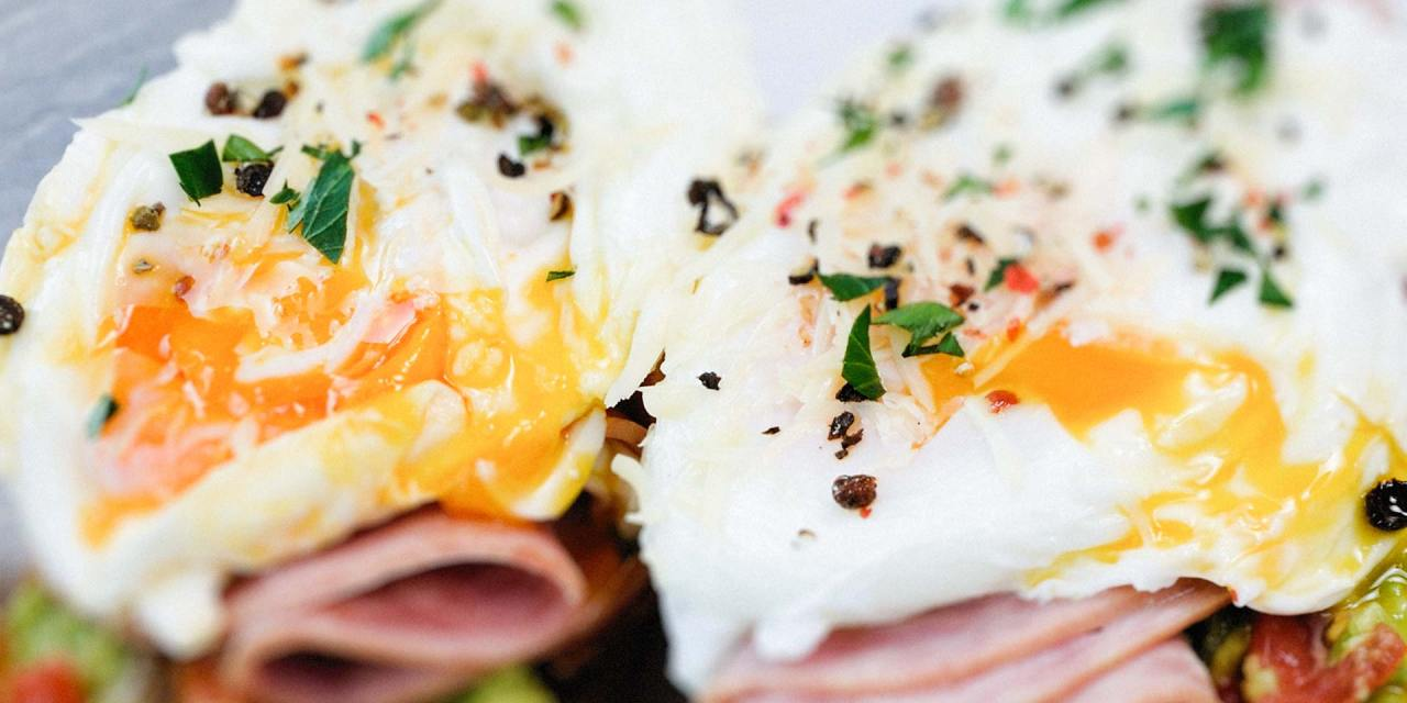 Poached Eggs and Ham