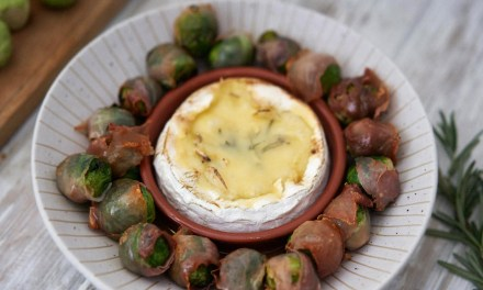 Pancetta wrapped Brussels with Camembert