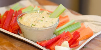 Easy Food Processor Hummus