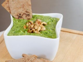 Spring Aspragus Pesto with Basil and Pine Nuts