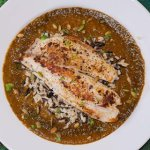 Mole Poblano with Tilapia and Brown Rice