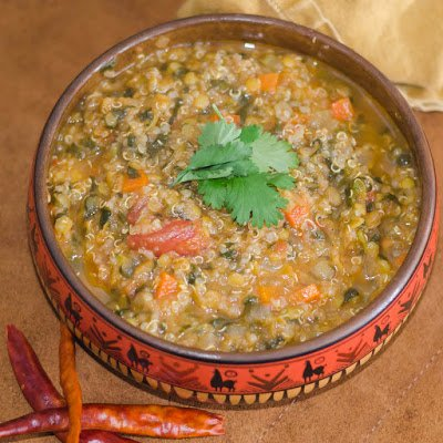 Red Lentil and Quinoa Soup