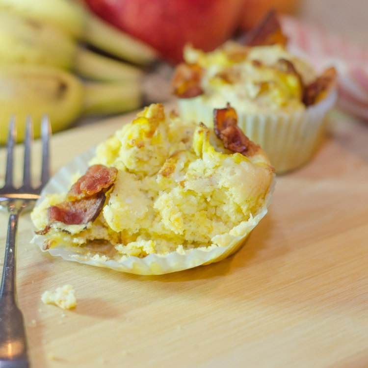 Cornbread Breakfast Muffins with Bacon and Eggs