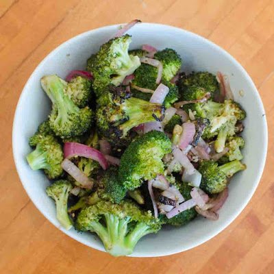 Grilled Broccoli with Red Onions