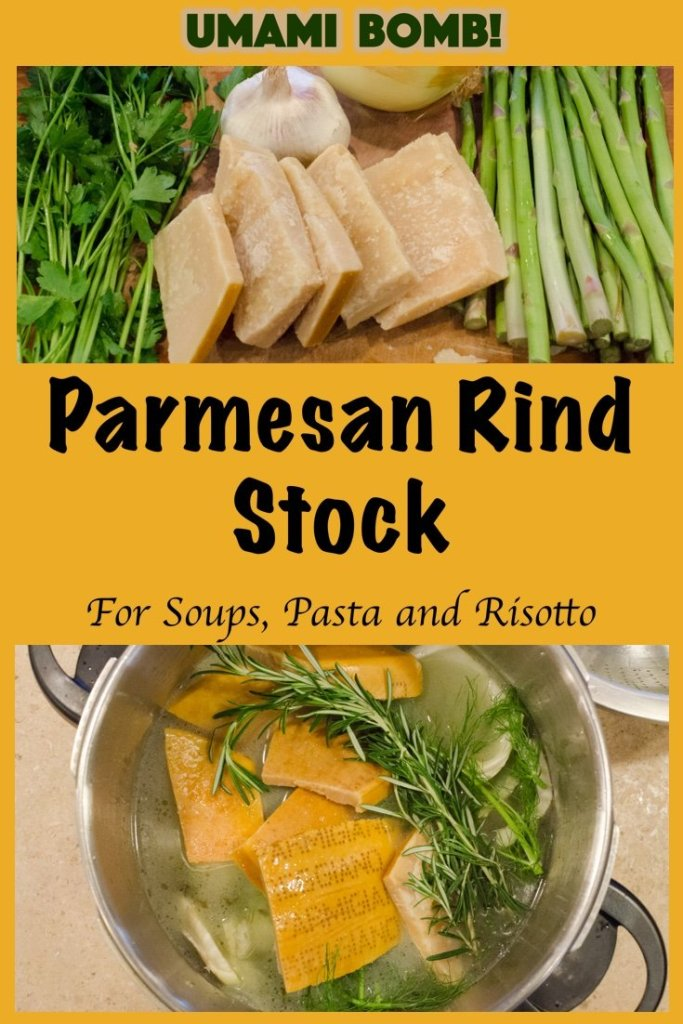 Parmesan Rind Stock for Soup, Pasta and Risotto
