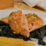 Miso Ginger Glazed Salmon Poached in Olive Oil