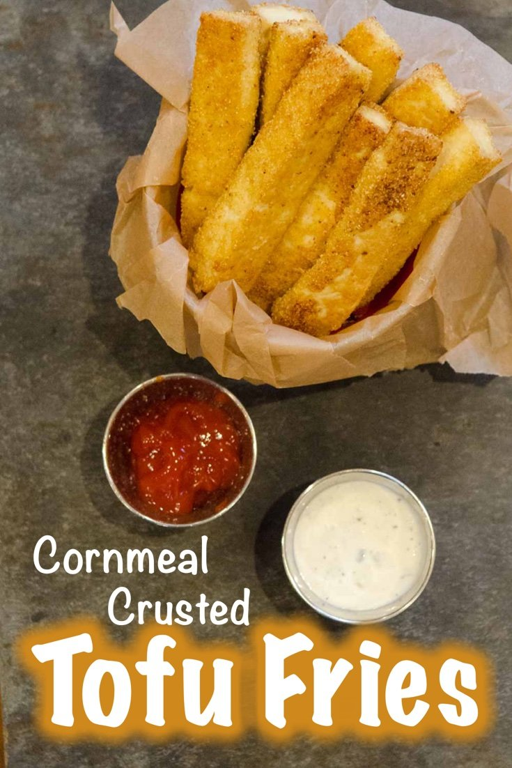 Cornmeal Crusted Tofu Fries are a great Plant Based Protein alternative to high glycemic potatoes