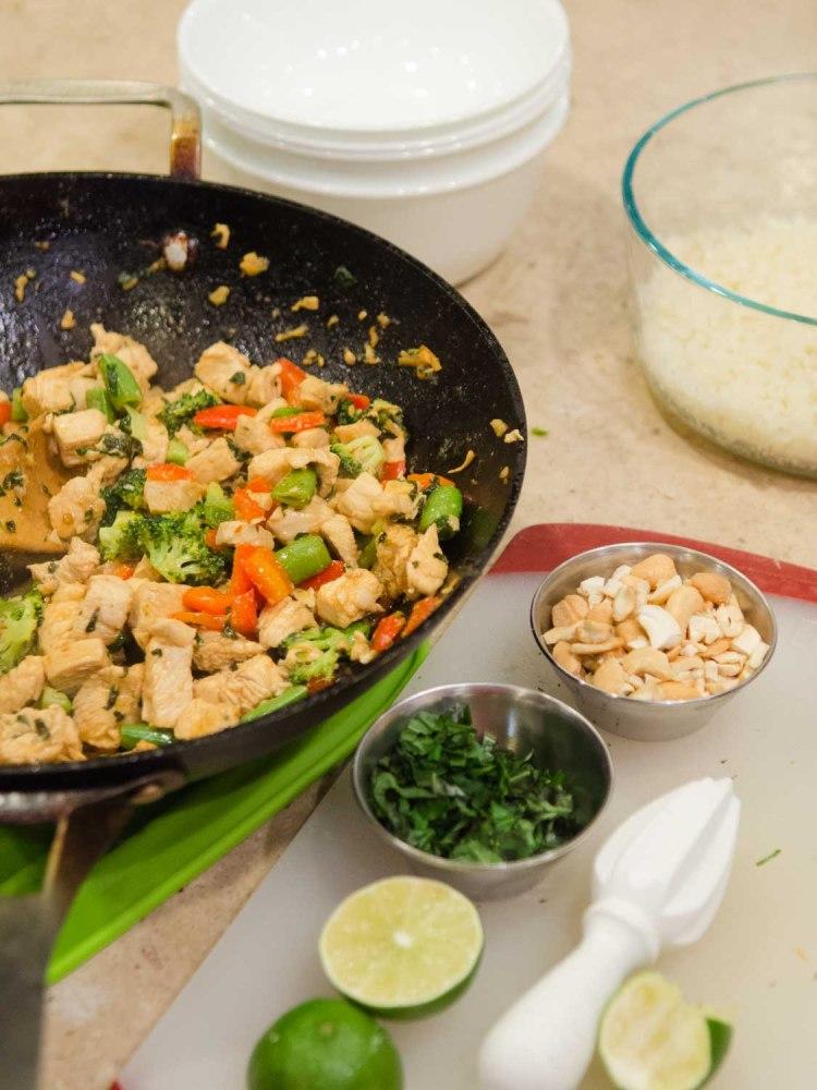 Basil Chicken and Cashew Stir Fry