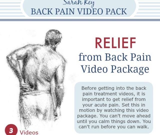 How To Relieve Back Pain Videos