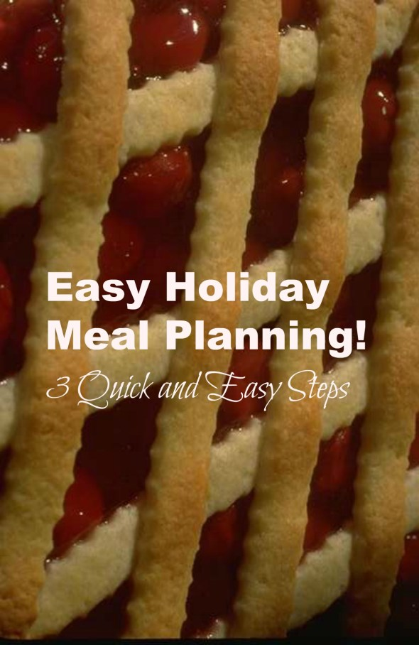 easy holiday meal planning