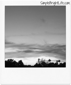 Sunset - Phoenix, Arizona - Black & White Photography - Painted Sky - Polaroids - Photo Series - SimpleBrightLife.com