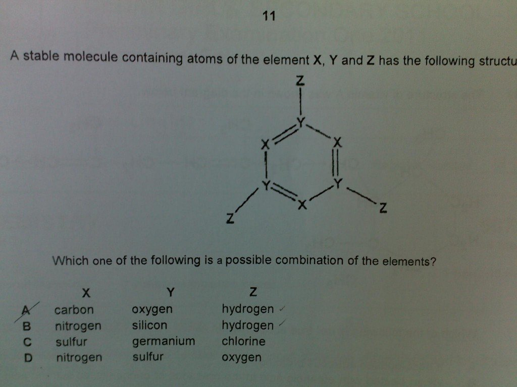 O Level Chemistry Question On Chemical Bonding