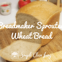 Breadmaker Sprouted Wheat Bread