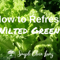 How to Refresh Wilted Greens