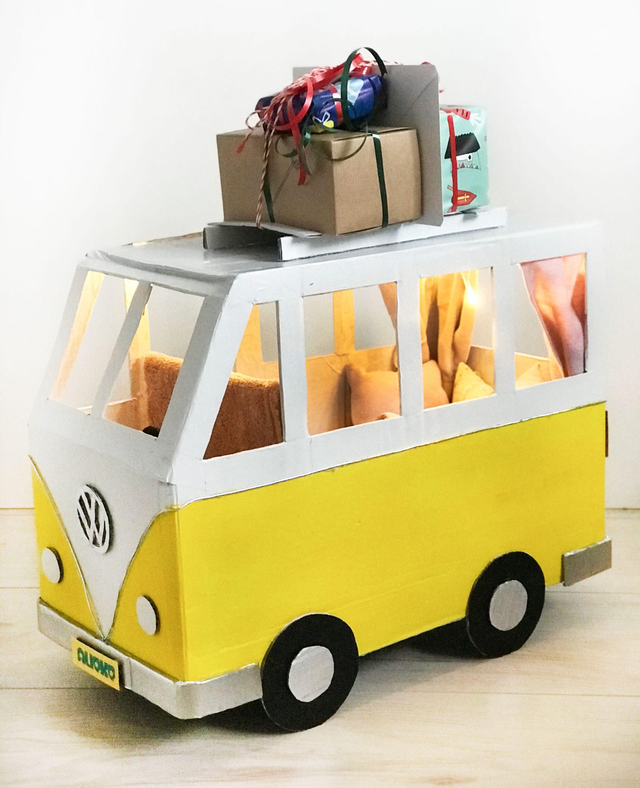 Volkswagen bus with presents