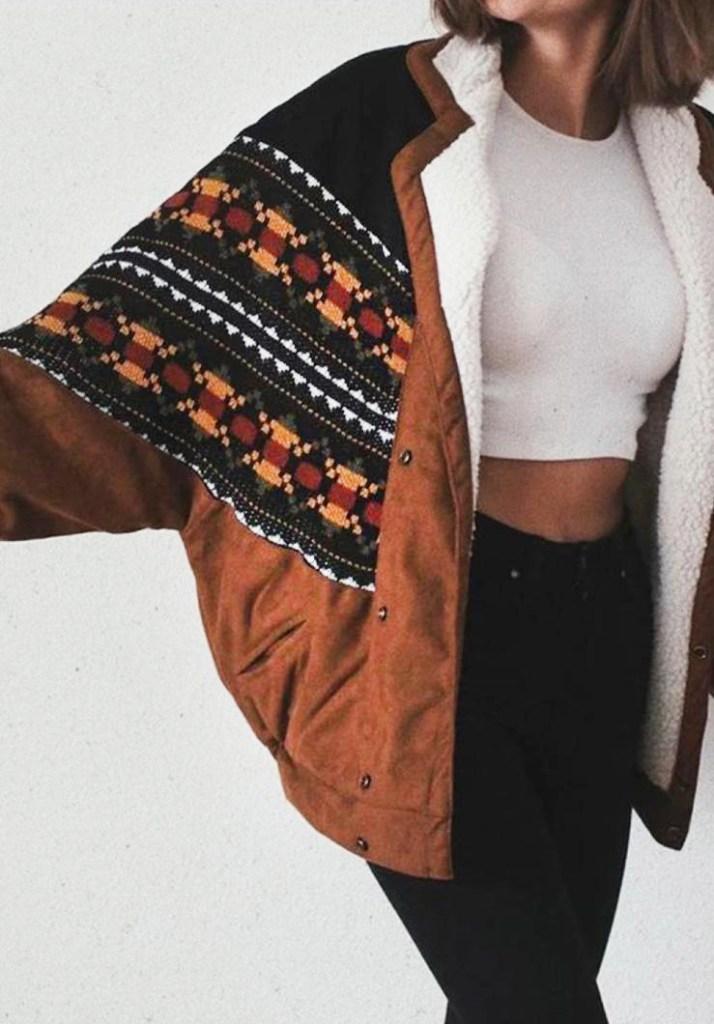 closeup jas voorkant