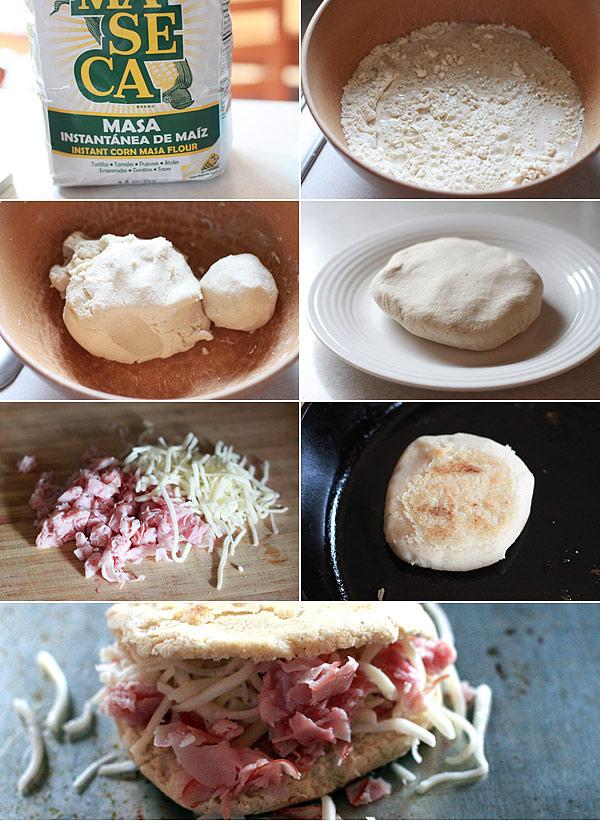 Ingredients for making arepas