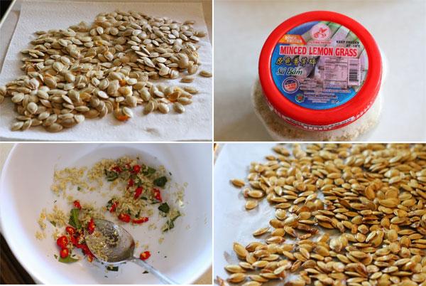 How to make Thai style roasted pumpkin seeds