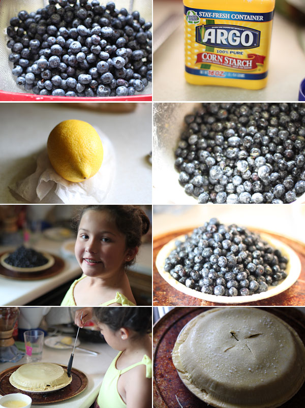 How to make blueberry and ginger pie