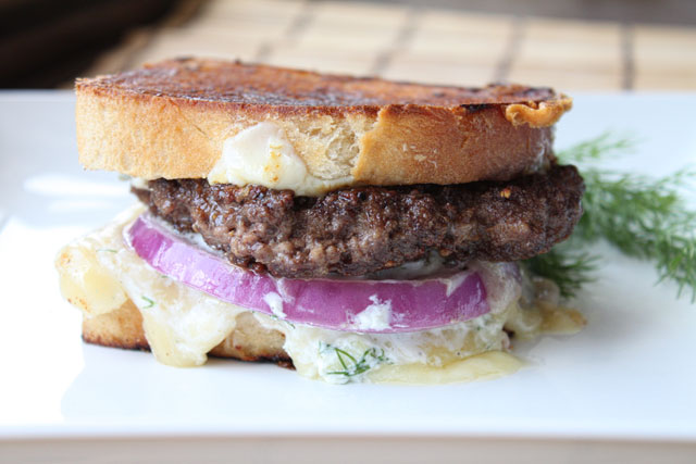 Grecian Lamb and Tzatziki Grilled Cheese