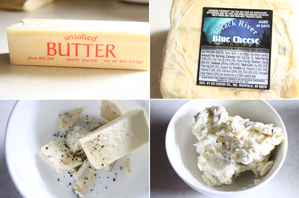 How to make blue cheese compound butter