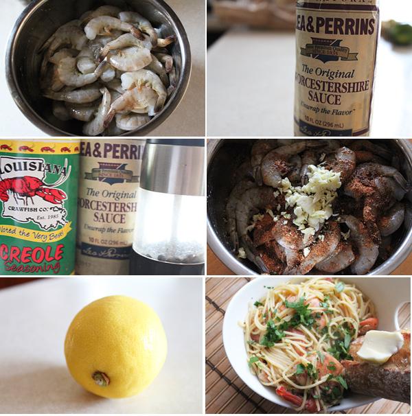 New Orleans Style Shrimp Ingredients