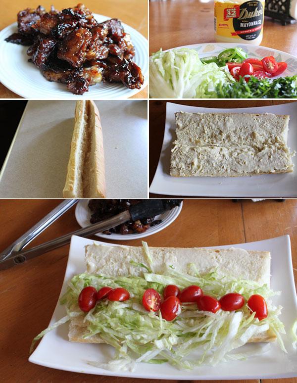 Vietnamese Caramel Chicken Po Boy Recipe