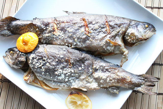 Baked Whole Trout