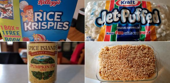 Pumpkin Spiced Rice Krispies Treats