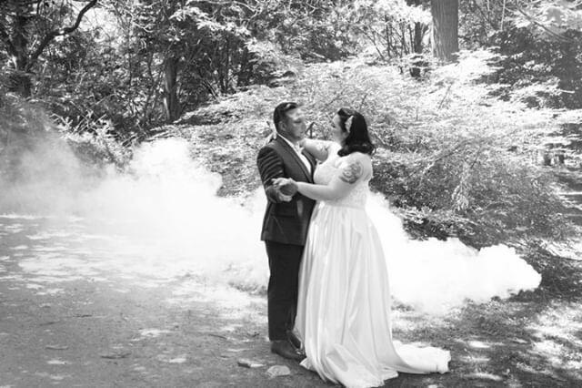 Photo de couple mariage féerique