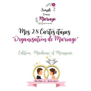 cartes étapes organisation mariage logo