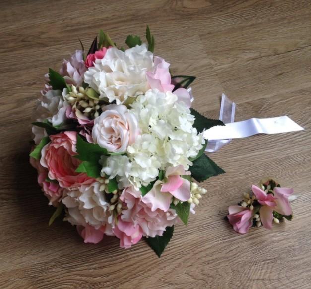 bouquet fleurs artificielles atelier mandragore