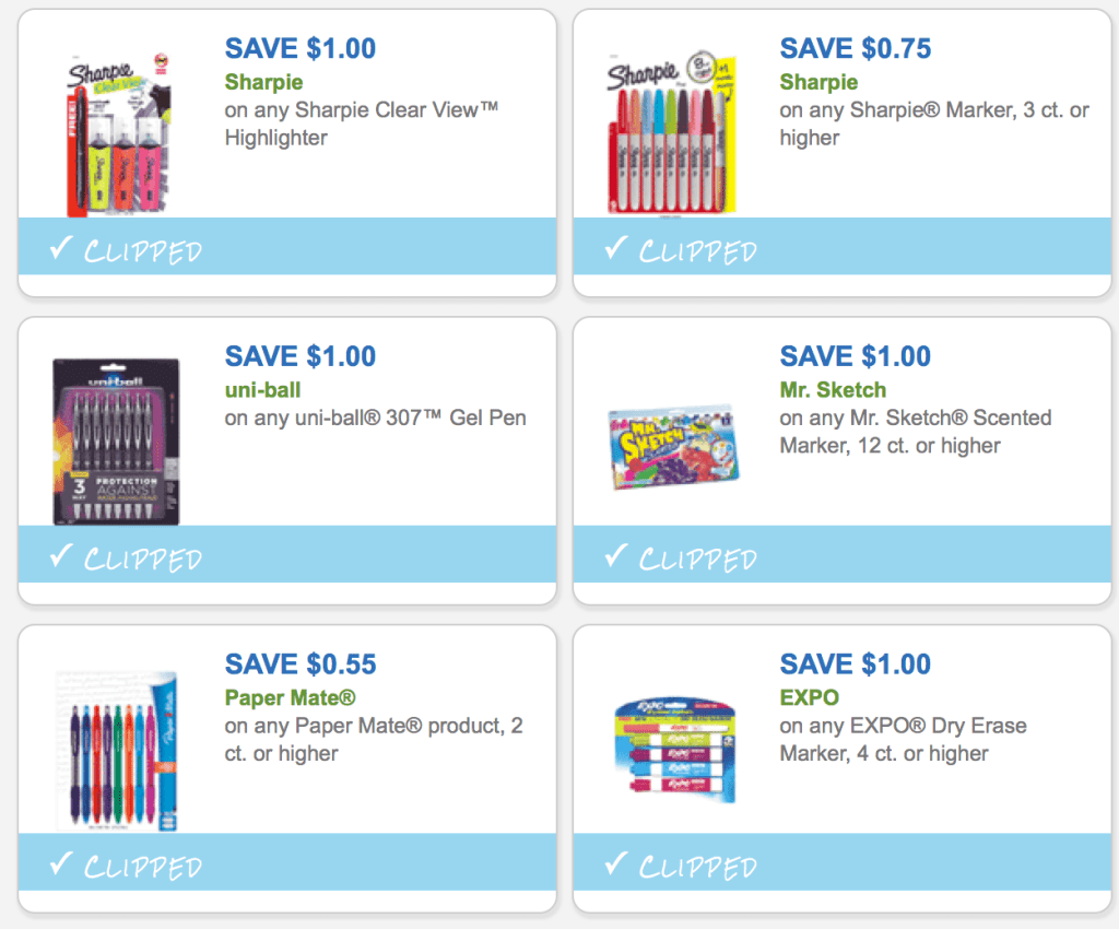 New Back To School Supplies Printable Coupons Simple