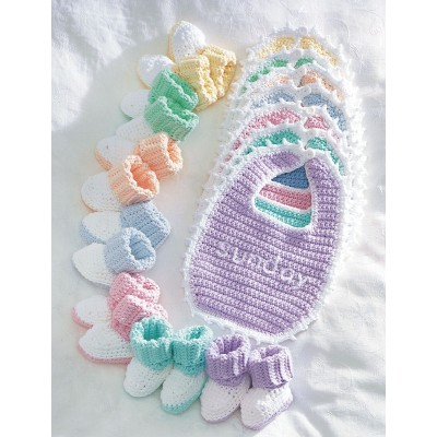 Daily Crochet Baby Booties And Bibs
