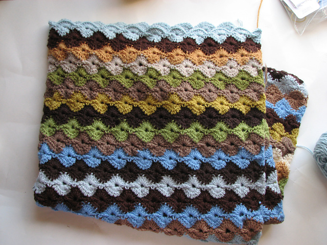 Easy Free Pattern Star Shell Crochet Afghan