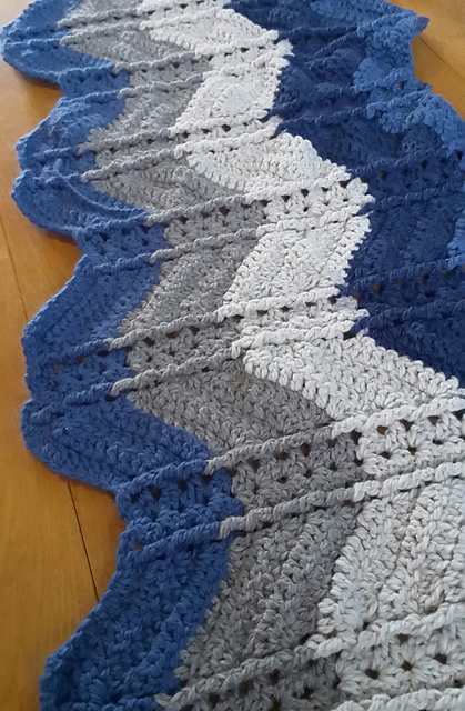 Free Pattern Shell And Post Stitch Ripple Afghan