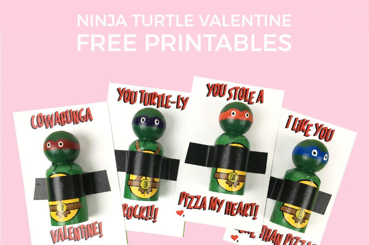 Ninja Turtle Valentines Free Printable