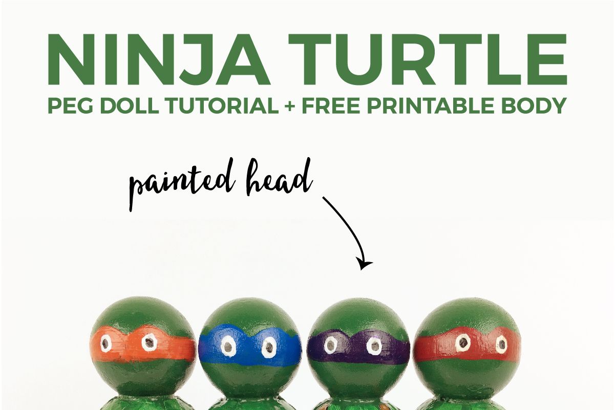 Ninja Turtle Peg Doll Tutorial