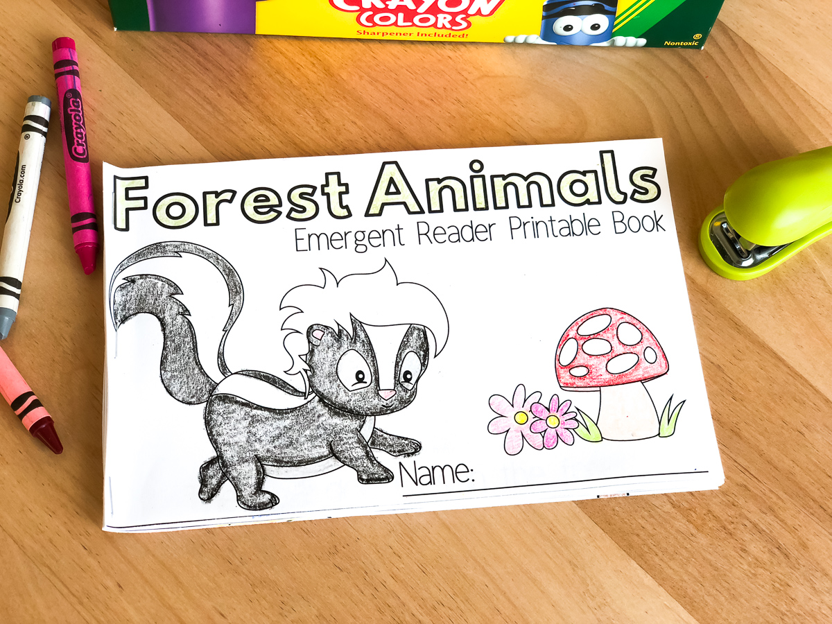 Free Printable Forest Animal Emergent Readers Book