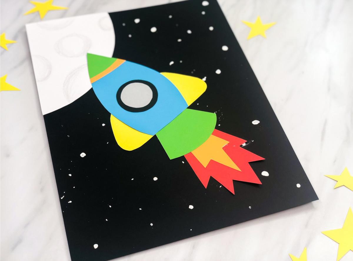 Simple Amp Fun Rocket Craft For Kids